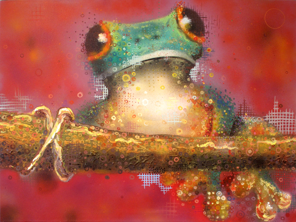 Frog mural by Mike Maka