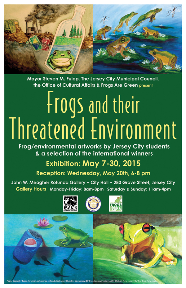 Frogs and their Threatened Environment - May 2015 - City Hall Rotunda in Jersey City