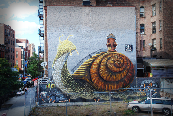 Snail Mural in Brooklyn, NY