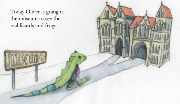 Today Oliver is going to the museum - illustration from the book
