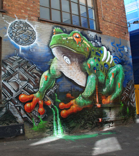 Melbourne Spotted Tree Frog Mural