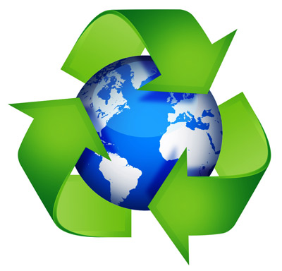 Recycle graphic from psdgraphics