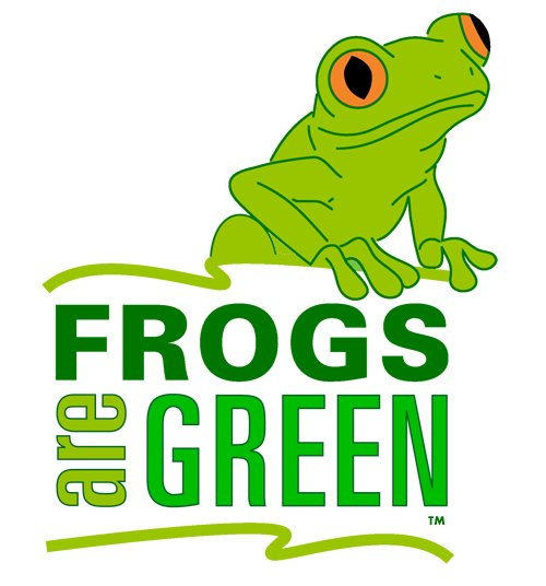 Frogs Are Green logo designed by Susan Newman