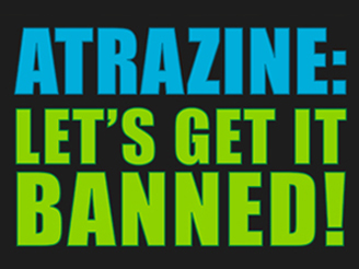 Ban Atrazine graphic designed by Susan Newman