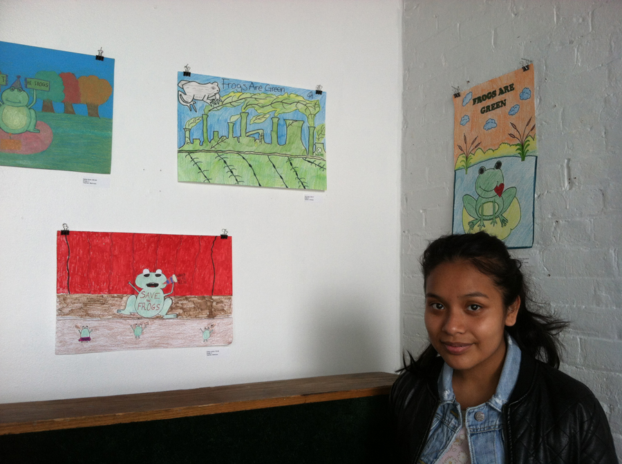young environmental artist at 58 Gallery on Coles Street in Jersey City