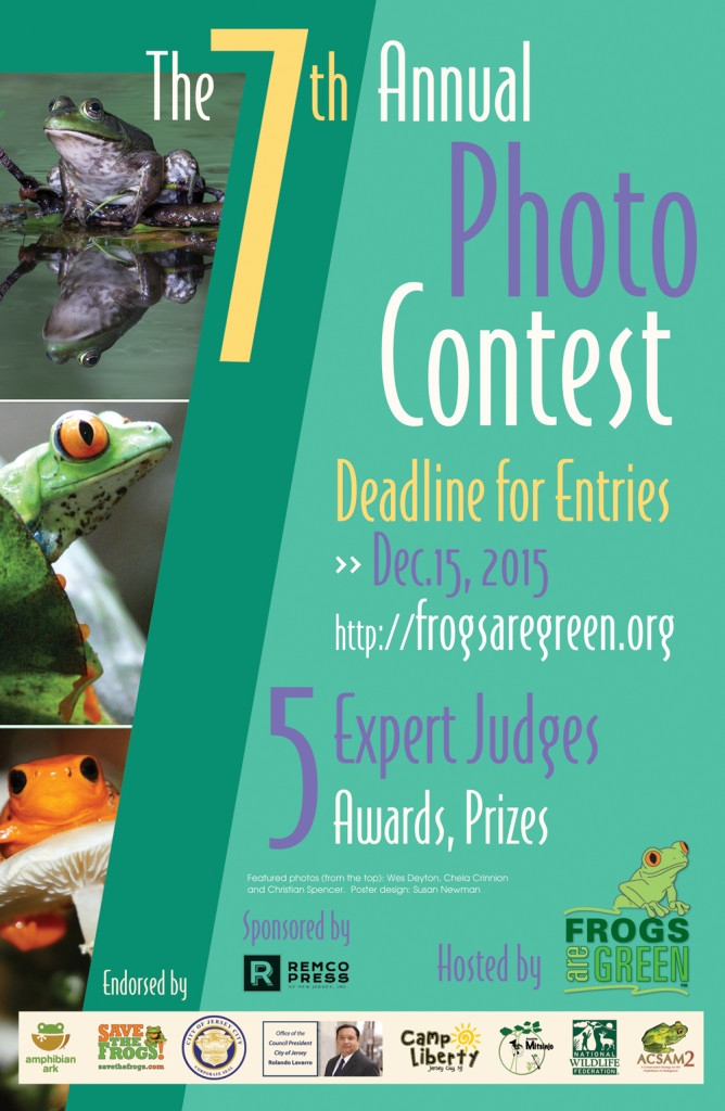 7th annual frogs are green photo contest poster