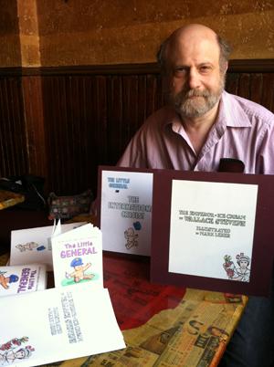 Mark Lerer, cartoonist at Petes Mini Zine by Susan Newman