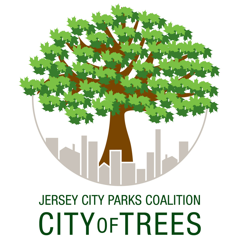 City of Trees - logo design by Susan Newman for Jersey City Parks Coalition