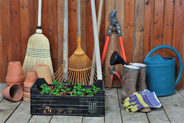 take care of gardening tools