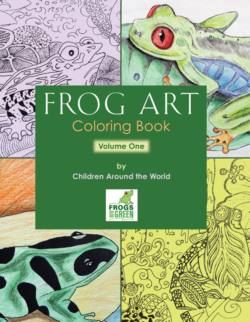 FROG ART coloring book volume one from Frogs Are Green