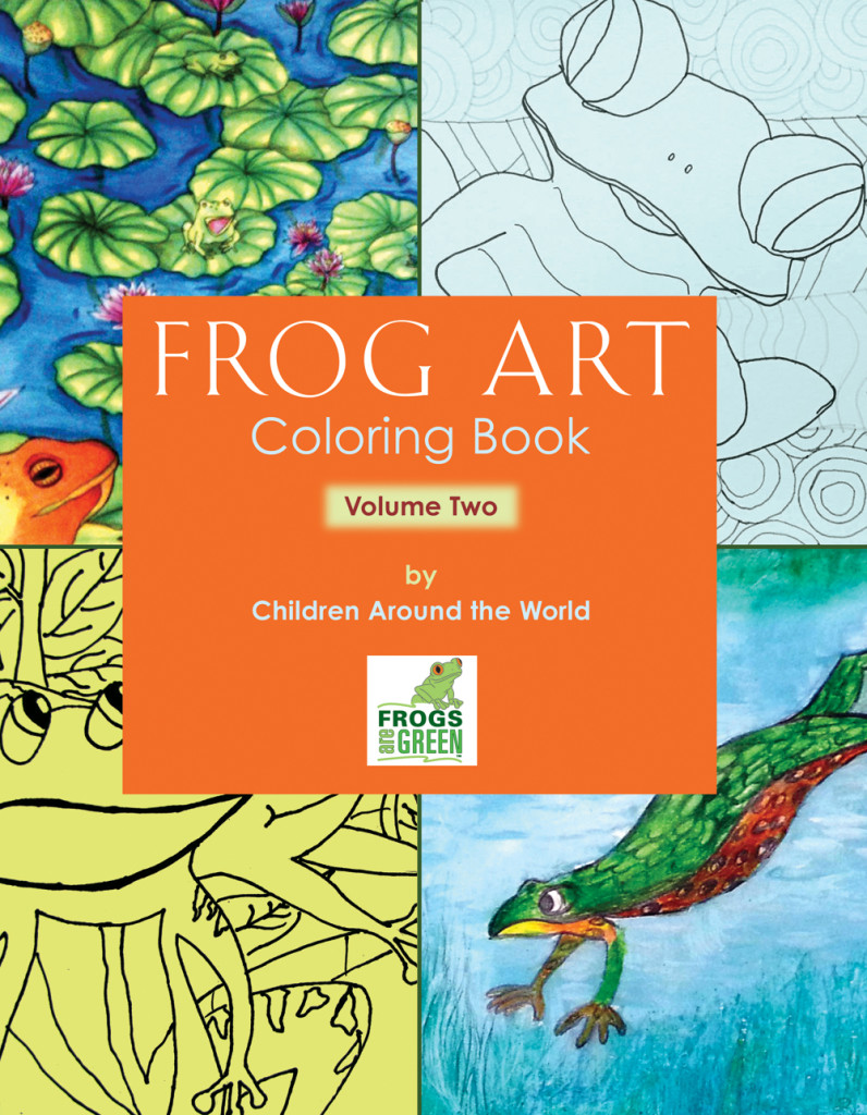 FROG ART coloring book volume two by Frogs Are Green