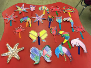 sea life and animal art by children