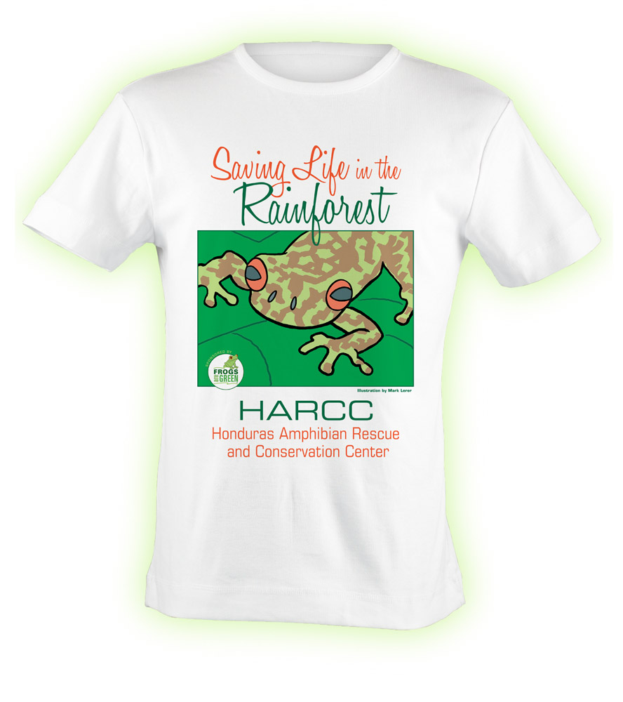 HARCC exclusively designed t-shirt by Susan Newman, founder of Frogs Are Green, and illustrated by Mark Lerer