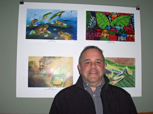 Chris Styler, Chef, at Frogs Are Green City Hall Opening Reception