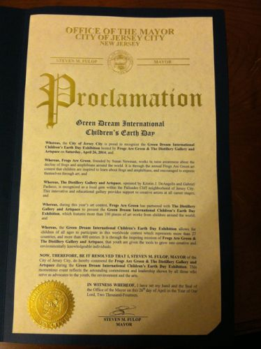 Proclamation to Frogs Are Green and Distillery Gallery for Green Dream