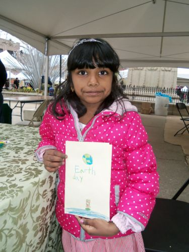 young-girl-creates-earth-day-card