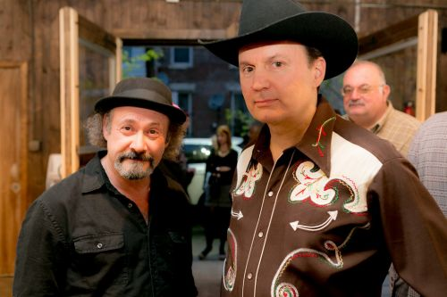 Sensational Country Blues Wonders, Gary Van Miert and Malcolm Marsden at the Green Dream Exhibition opening on Earth Day. Photo by Danny Chong.