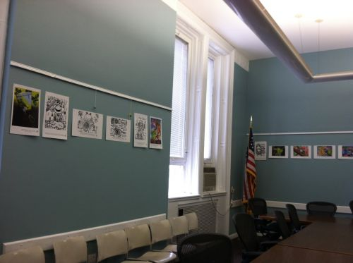 Jersey-City-Caucus-Room-displays-frog-art