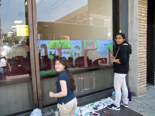 PS8-students-central-ave-window-painting