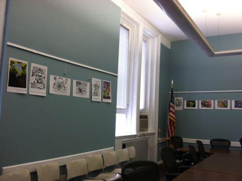 Jersey-City-Caucus-Room-displays-frog-art