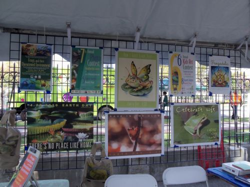 Frogs Are Green displays posters at WPLIVE 2015