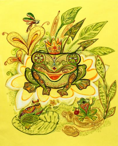 4th Place, Shitikova Yekaterina, 11 years old, Russia, Oryol, A pretty frog