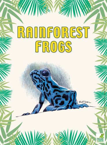 Rainforest Frogs poster, designed by Susan Newman, Illustrated by Mark Lerer.