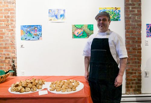 Chef Camillo Sabella at Green Dream's Save the Frogs Day event in Jersey City - Photo by Danny Chong.