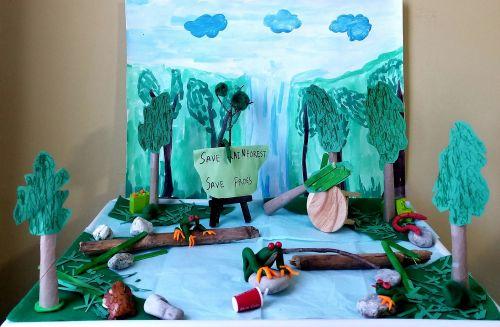 2nd-place, 3D Save the Rainforest by Isha Deshmukh, 7 yrs, New Jersey, USA