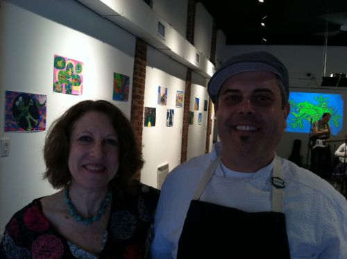 Susan Newman and Chef Camillo Sabella
