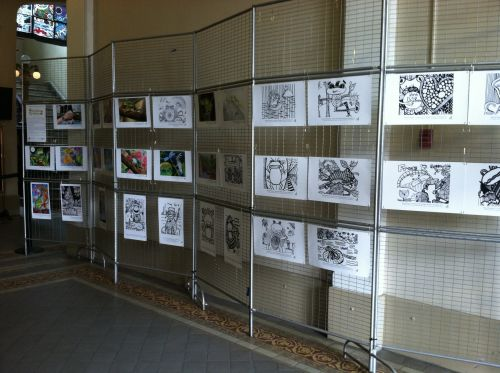hoboken-city-hall-shows-frog-artworks