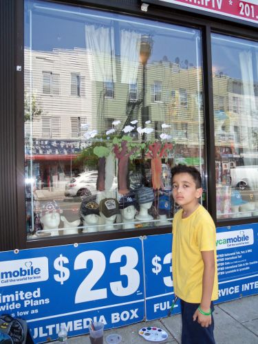 Gerald-Vargas-paints-trees-490-Central-Ave