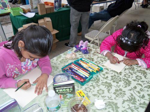 children-work-hard-on-frog-drawings