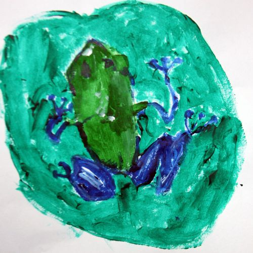 2nd Place Winner, Liam Cheng, New York, USA, Frogs Are Green Kids Art Contest 2014, age 3-6 group
