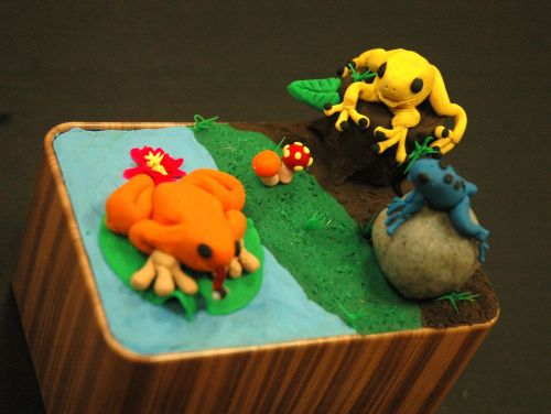 2nd Place Winner, Margaret Chen, Michigan, USA, Frogs Are Green Kids Art Contest, Best 3D Art