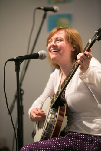 Carolyn Light plays with The Gully Hubbards at Green Dream's Save the Frogs Day event in Jersey City