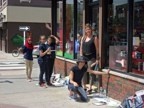 students-PS-4-window-painting