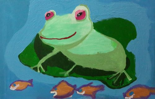 1st Place Winner, Kardelen Koc, Turkey, Frogs Are Green Kids Art Contest 2014, age 3-6 group