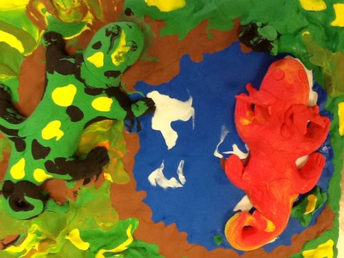 Honorable Mention, Giancarlo Quesda, New Jersey, USA, Frogs Are Green Kids Art Contest, Best of Jersey City