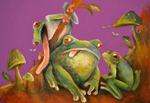 Honorable Mention, Marian Patrisia, Romania, Frogs Are Green Kids Art Contest, Ages 13-16