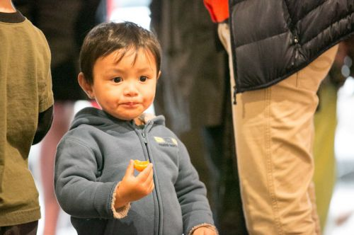 Child enjoying Green Dream's Save the Frogs Day event at The Distillery Gallery in Jersey City. Photo by Danny Chong.