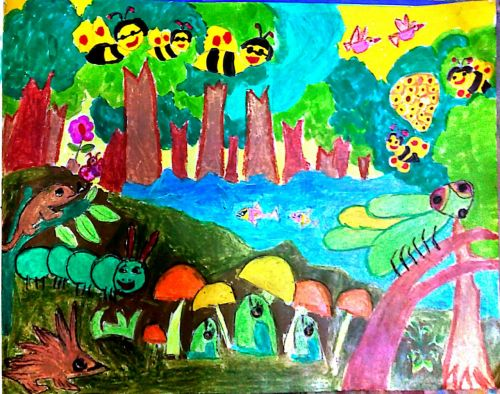 3rd-place, Trapa Choudhury, 5 yrs old, India