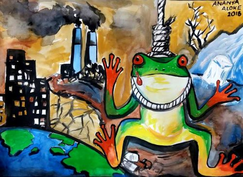 Ananya Aloke, 14 years old, India, Frogs_Are_Green