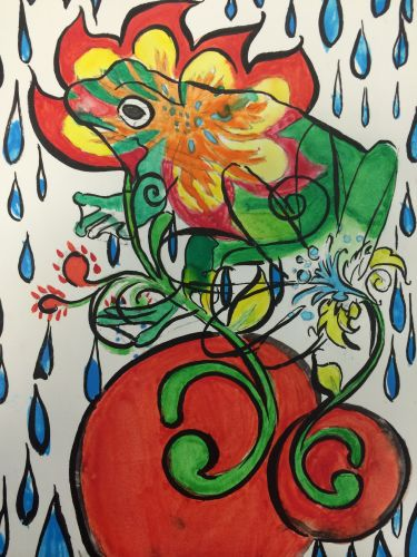 Honorable Mention, Sarah Mongare, New Jersey, USA, Frogs Are Green Kids Art Contest, Best of Jersey City
