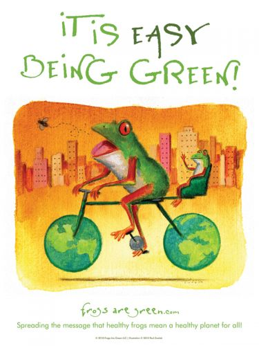 It is easy being green - Illustrated by Paul Zwolak, designed by Susan Newman