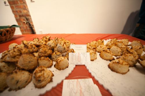 Chef Camillo Sabella's macaroons at Green Dream's Save the Frogs Day event in Jersey City - Photo by Danny Chong.