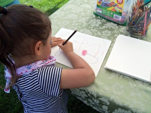 Kids love to draw and we encourage them to care about frogs too!