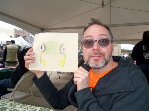Mory-displayfrogart-and-imitates-frog