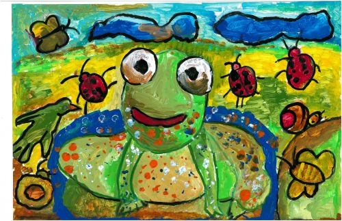 Sanuka Basnayake, 6 years old, Sri Lanka. Frogs Harmony