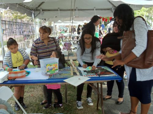all ages drawing frogs at Washington Park Live